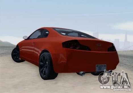 Infiniti G35 für GTA San Andreas Rückansicht