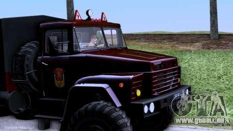 École de conduite de camion pour GTA San Andreas laissé vue