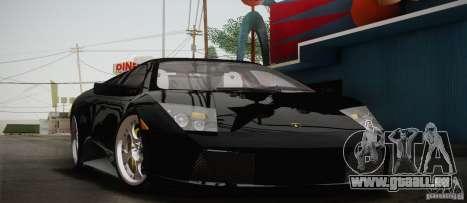 Lamborghini Murcielago 2002 v 1.0 für GTA San Andreas Innenansicht
