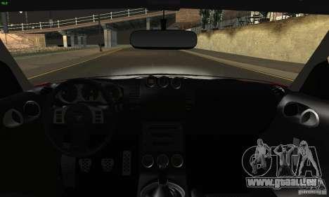 Nissan 350Z Tunable pour GTA San Andreas vue de dessous