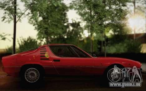 Alfa Romeo Montreal 1970 pour GTA San Andreas sur la vue arrière gauche