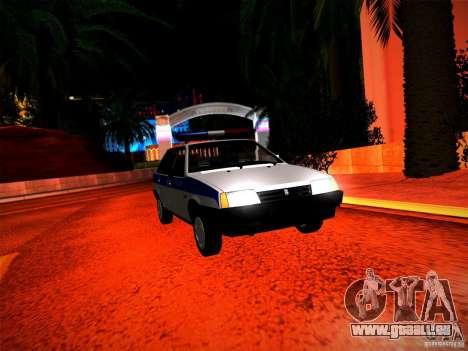 Police Vaz 2109 pour GTA San Andreas vue de droite