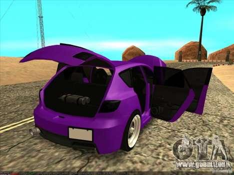 Mazda Speed 3 Stance für GTA San Andreas Innenansicht