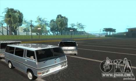 Nissan Caravan E20 pour GTA San Andreas vue de droite