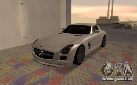 Mercedes-Benz SLS AMG 2010 pour GTA San Andreas sur la vue arrière gauche