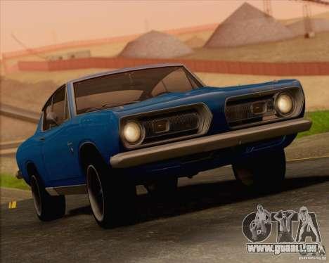 Plymouth Barracuda 1968 für GTA San Andreas Unteransicht