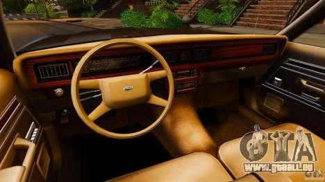 Ford LTD Crown Victoria 1987 für GTA 4 Rückansicht