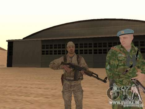 Une soldat soviétique de la peau pour GTA San Andreas