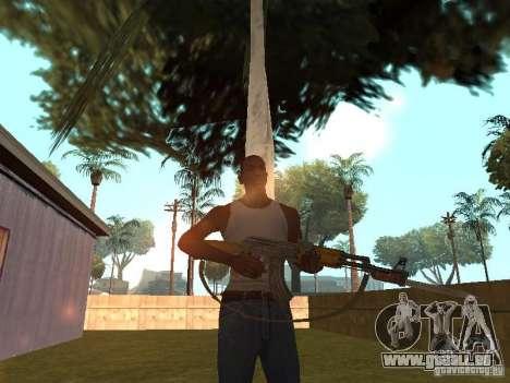 AK 47 avec un HD de baïonnette-couteau pour GTA San Andreas quatrième écran