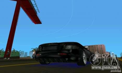 Mercedes-Benz SLR McLaren 722 Black Revel pour une vue GTA Vice City de la droite