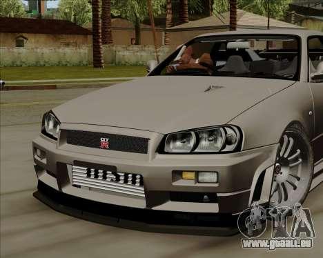 Nissan Skyline GTR R34 für GTA San Andreas Rückansicht