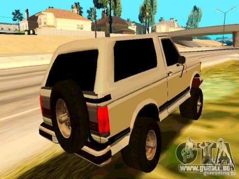 Ford Bronco 1990 pour GTA San Andreas vue de droite
