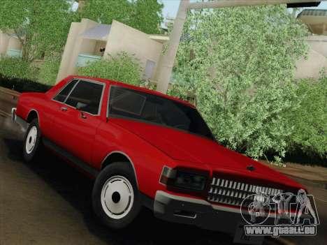 Chevrolet Caprice 1986 pour GTA San Andreas laissé vue