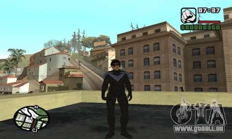 Nightwing skin pour GTA San Andreas sixième écran
