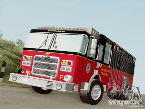 Pierce SFFD Rescue für GTA San Andreas linke Ansicht