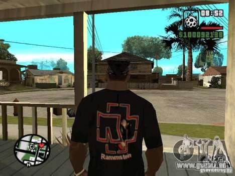 Rammstein T-shirt v1 für GTA San Andreas zweiten Screenshot