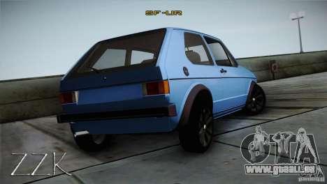 Volkswagen Golf MK1 pour GTA San Andreas vue de droite