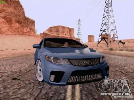 Kia Cerato Coupe 2011 für GTA San Andreas zurück linke Ansicht
