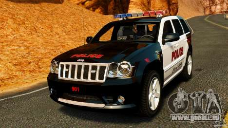 Jeep Grand Cherokee SRT8 2008 Police [ELS] für GTA 4
