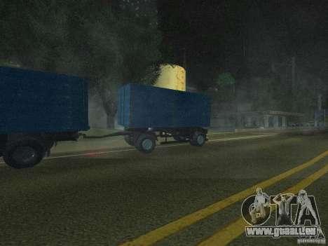 9357 Odaz remorque pour GTA San Andreas sur la vue arrière gauche