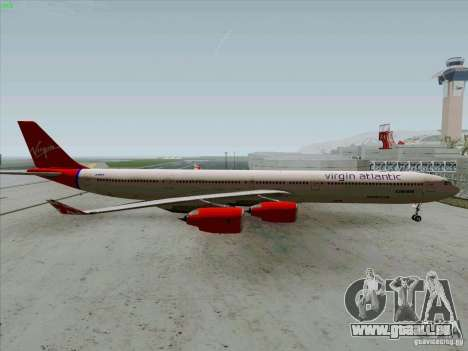 Airbus A-340-600 Virgin für GTA San Andreas linke Ansicht