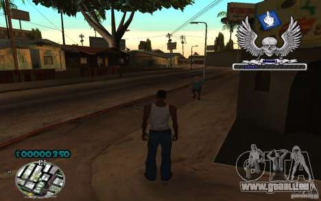 C-HUD awk William pour GTA San Andreas deuxième écran