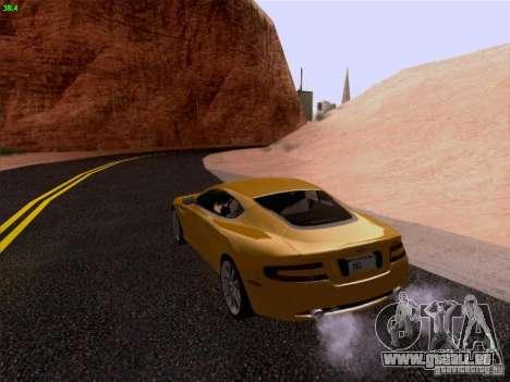 Aston Martin DB9 für GTA San Andreas Seitenansicht