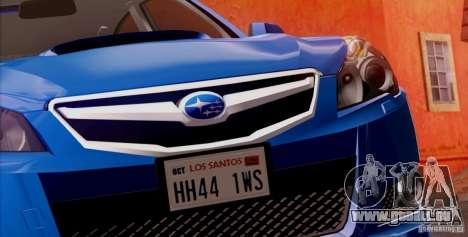 Subaru Legacy B4 2010 für GTA San Andreas Räder