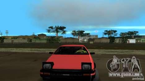 Toyota Trueno Sprinter pour GTA Vice City sur la vue arrière gauche