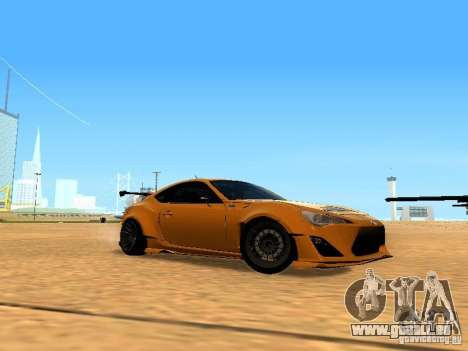 Toyota FT86 Rocket Bunny V2 pour GTA San Andreas vue intérieure