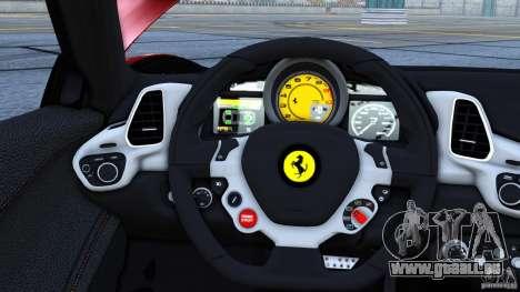 Ferrari 458 Italia 2010 Autovista für GTA 4 linke Ansicht