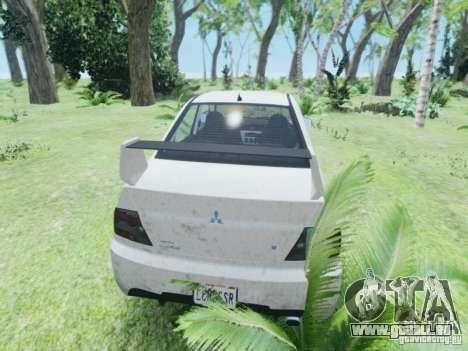 Mitsubisi Lancer Evolution IX GSR 2005 pour GTA 4 est un droit