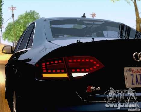 Audi S4 2010 pour GTA San Andreas vue de dessous