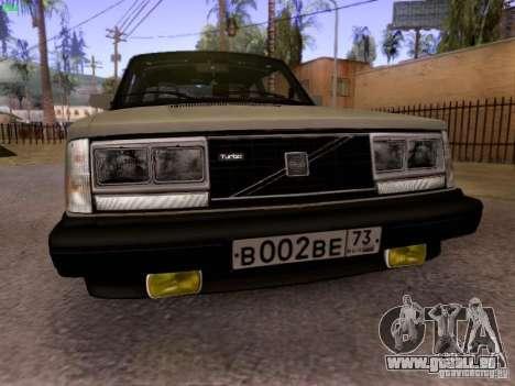 Volvo 242 Turbo pour GTA San Andreas laissé vue