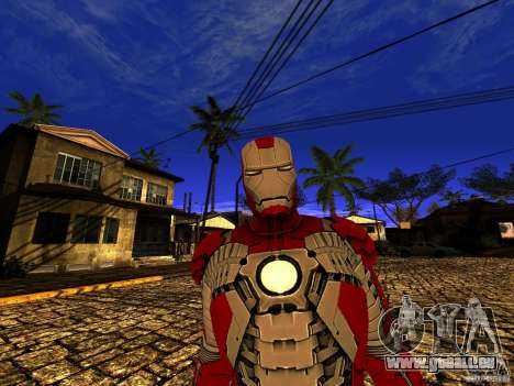 Iron Man 3 Mark V für GTA San Andreas her Screenshot