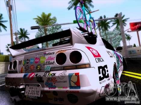 Nissan GT-R R33 HellaFlush pour GTA San Andreas laissé vue