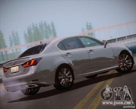 Lexus GS 350 F Sport Series IV pour GTA San Andreas laissé vue