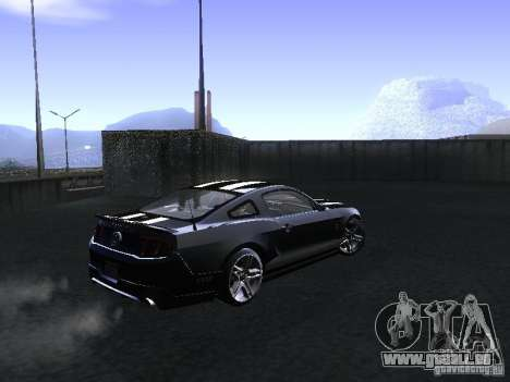 Ford Mustang Shelby GT500 pour GTA San Andreas vue arrière