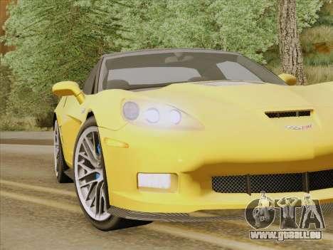 Chevrolet Corvette ZR1 für GTA San Andreas Innen
