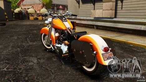 Harley Davidson Fat Boy Lo Vintage für GTA 4 hinten links Ansicht