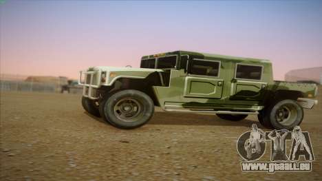 HD Patriot pour GTA San Andreas laissé vue