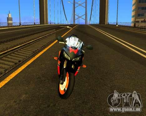 HONDA CBR 1000RR Repsol pour GTA San Andreas laissé vue
