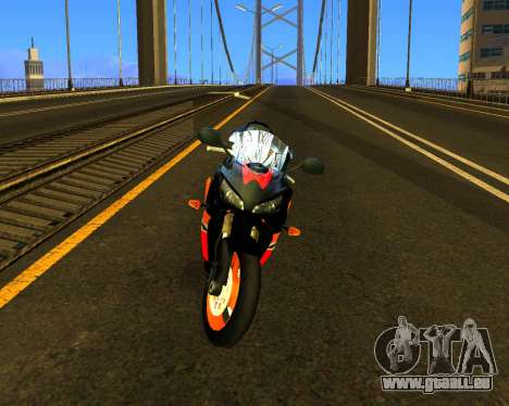 HONDA CBR 1000RR Repsol für GTA San Andreas linke Ansicht