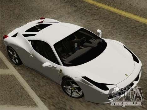 Ferrari 458 Italia 2010 pour GTA San Andreas roue