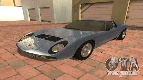 Lamborghini Miura P400 SV 1971 V1.0 pour GTA San Andreas
