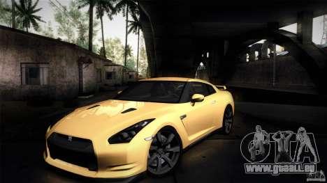 Nissan GT-R35 v1 pour GTA San Andreas vue intérieure
