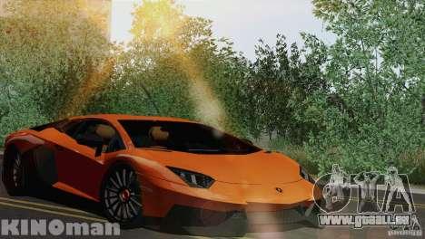 Lamborghini Aventador LP 700-4 für GTA San Andreas Rückansicht