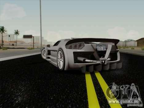 Gumpert Apollo 2005 für GTA San Andreas zurück linke Ansicht
