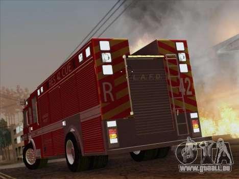 Pierce Contender LAFD Rescue 42 für GTA San Andreas obere Ansicht