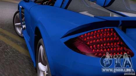 Porsche Carrera GT Custom pour GTA San Andreas vue de droite